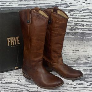 FRYE 'Melissa Button' Tall Boots - Size 10